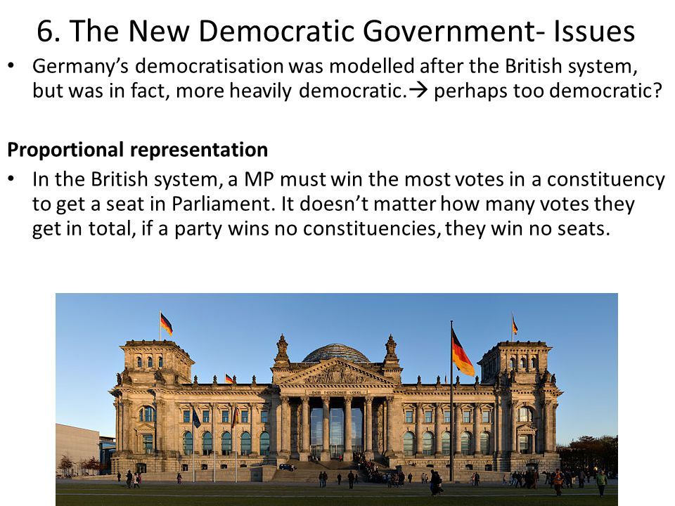 6. The New Democratic Government- Issues