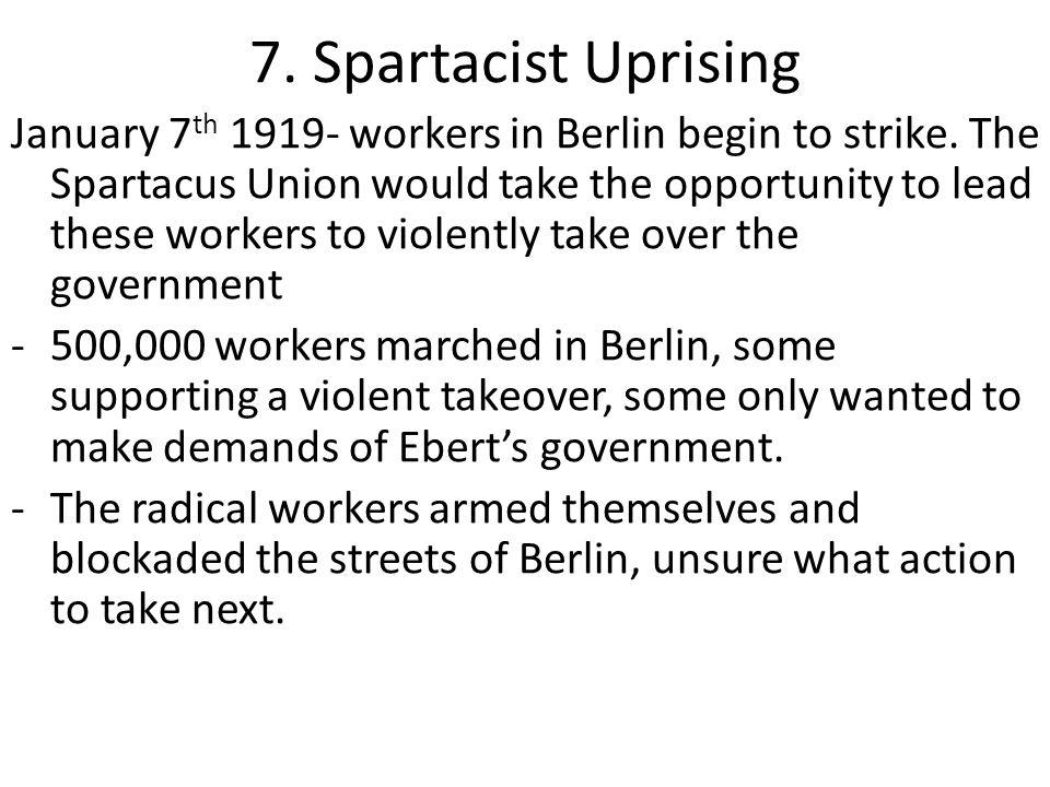 7. Spartacist Uprising