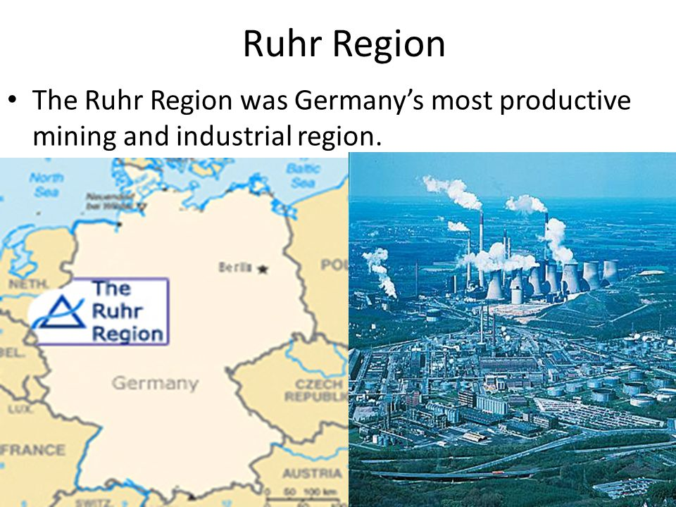 Ruhr Region The Ruhr Region was Germany's most productive mining and industrial region.