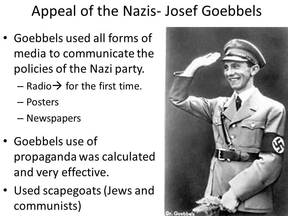 Appeal of the Nazis- Josef Goebbels