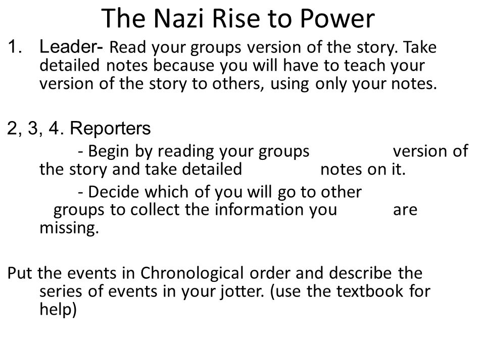 The Nazi Rise to Power