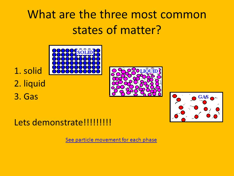 What are the three most common states of matter