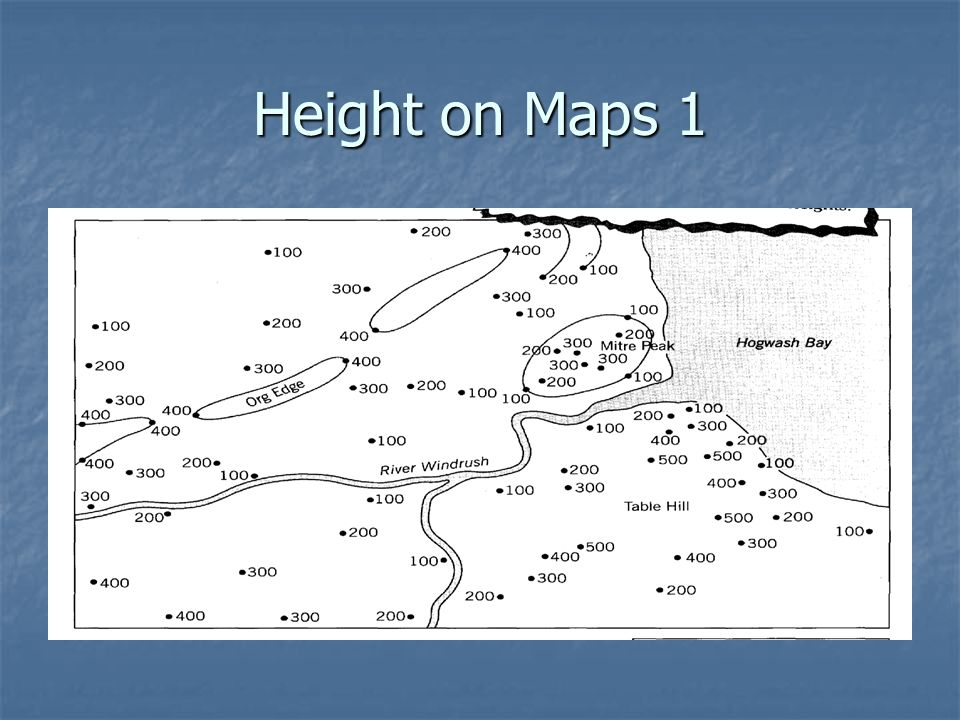 Height on Maps 1