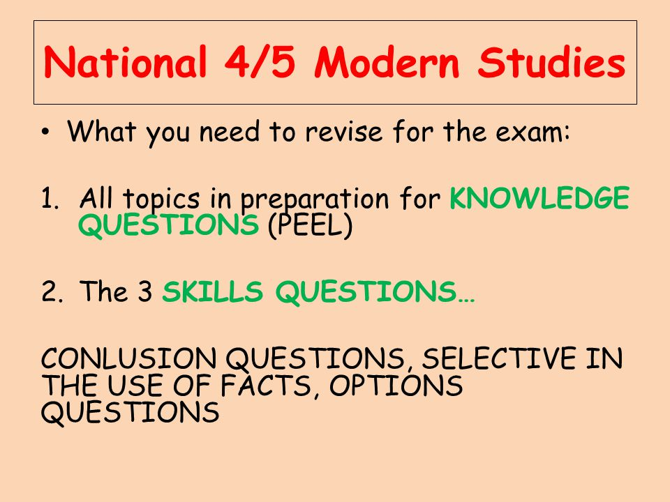 National 4/5 Modern Studies