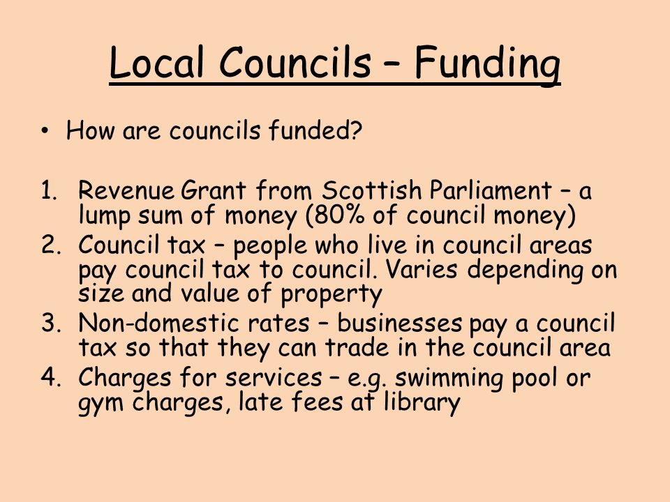 Local Councils – Funding