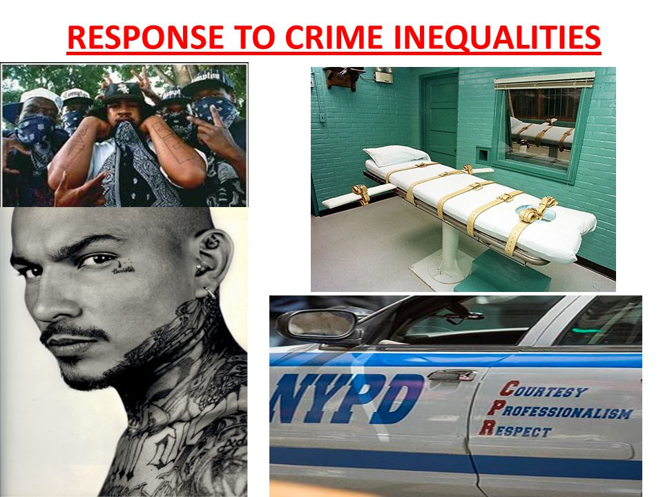 RESPONSE TO CRIME INEQUALITIES