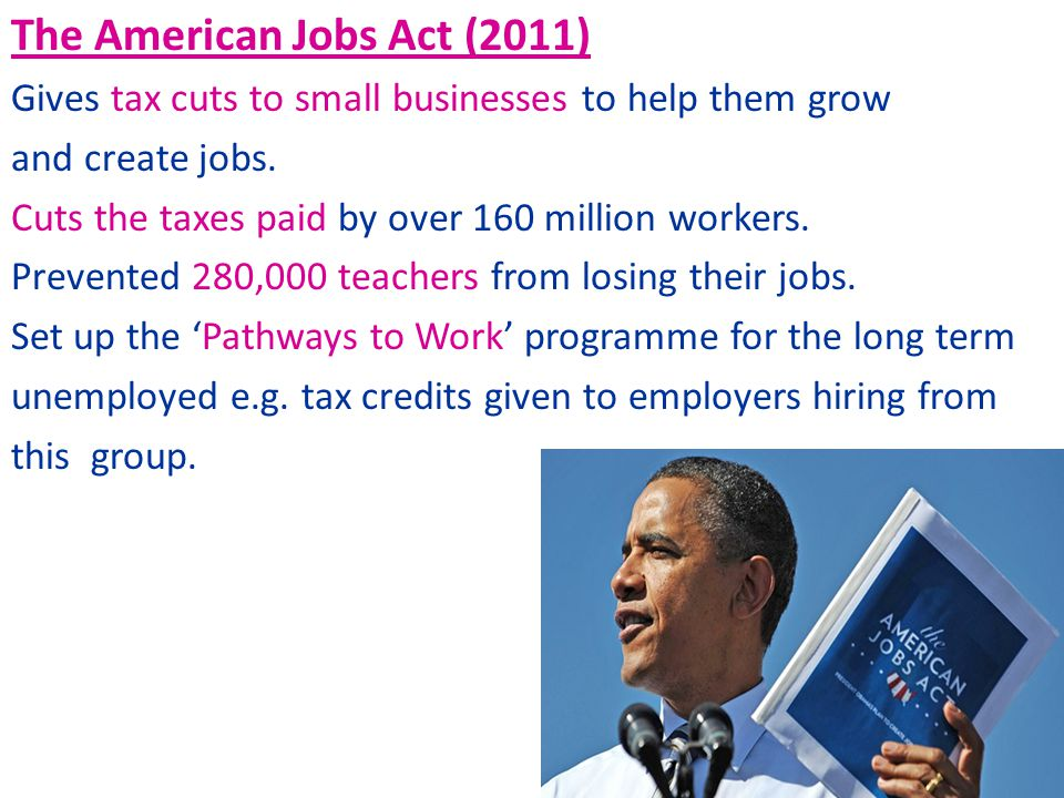 The American Jobs Act (2011)