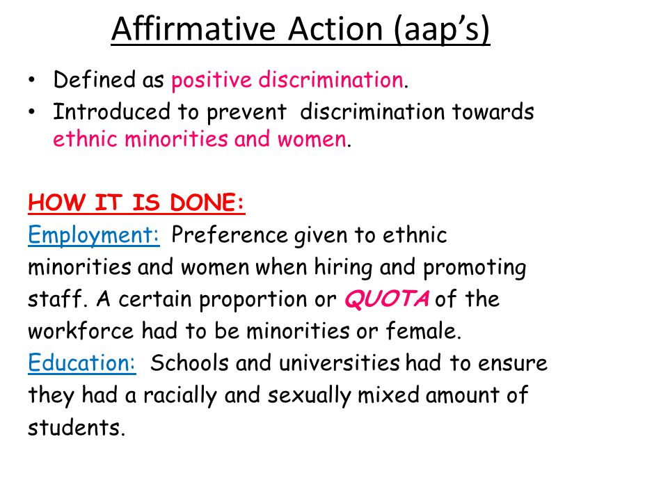 Affirmative Action (aap's)