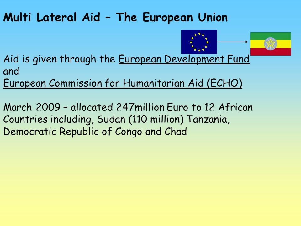 Multi Lateral Aid – The European Union