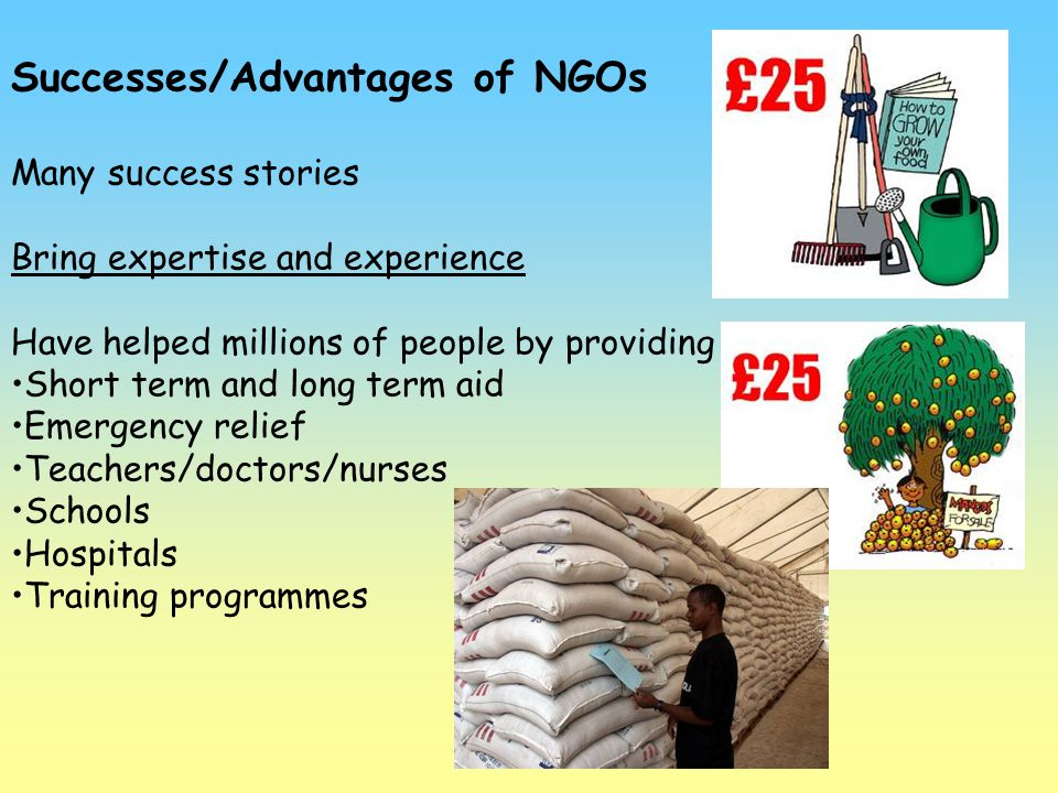 Successes/Advantages of NGOs