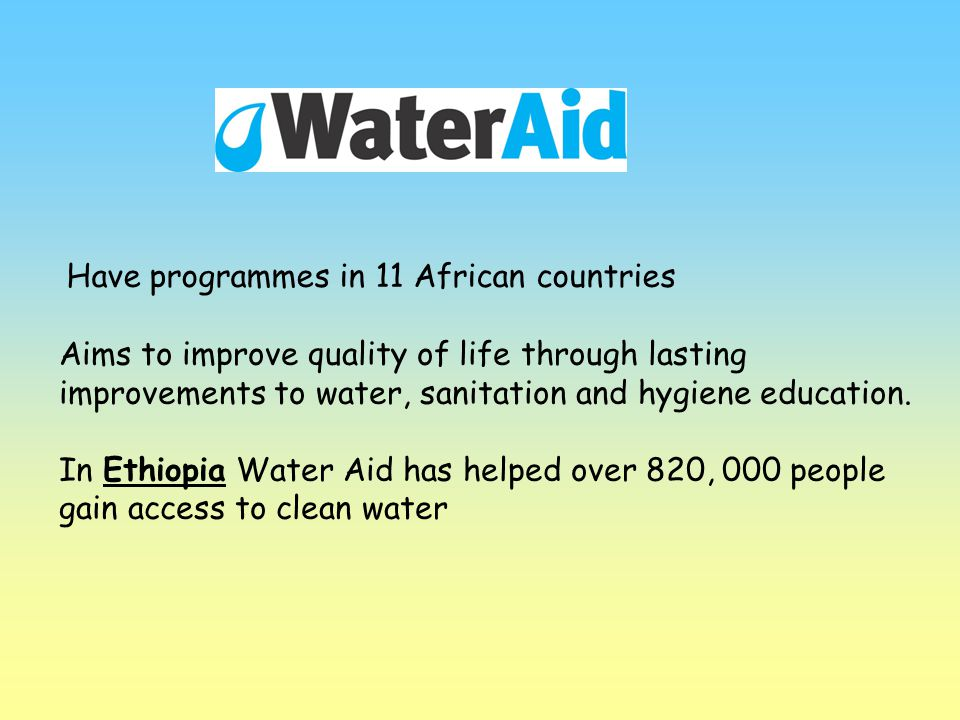 Have programmes in 11 African countries