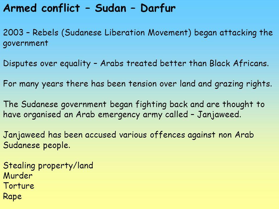 Armed conflict – Sudan – Darfur