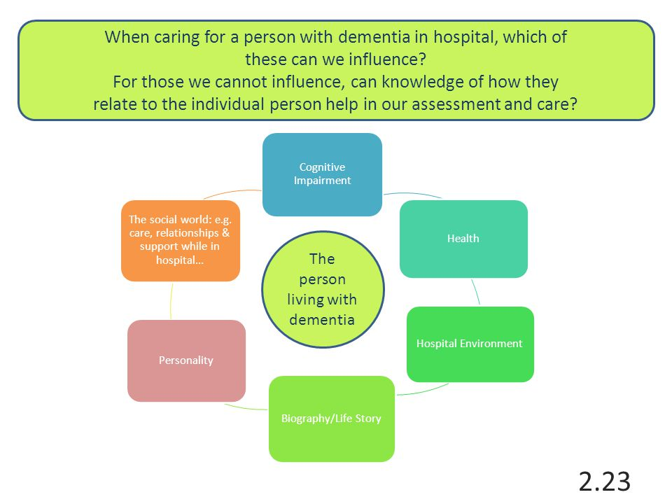 The person living with dementia