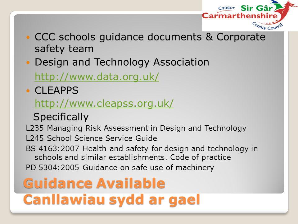 Guidance Available Canllawiau sydd ar gael