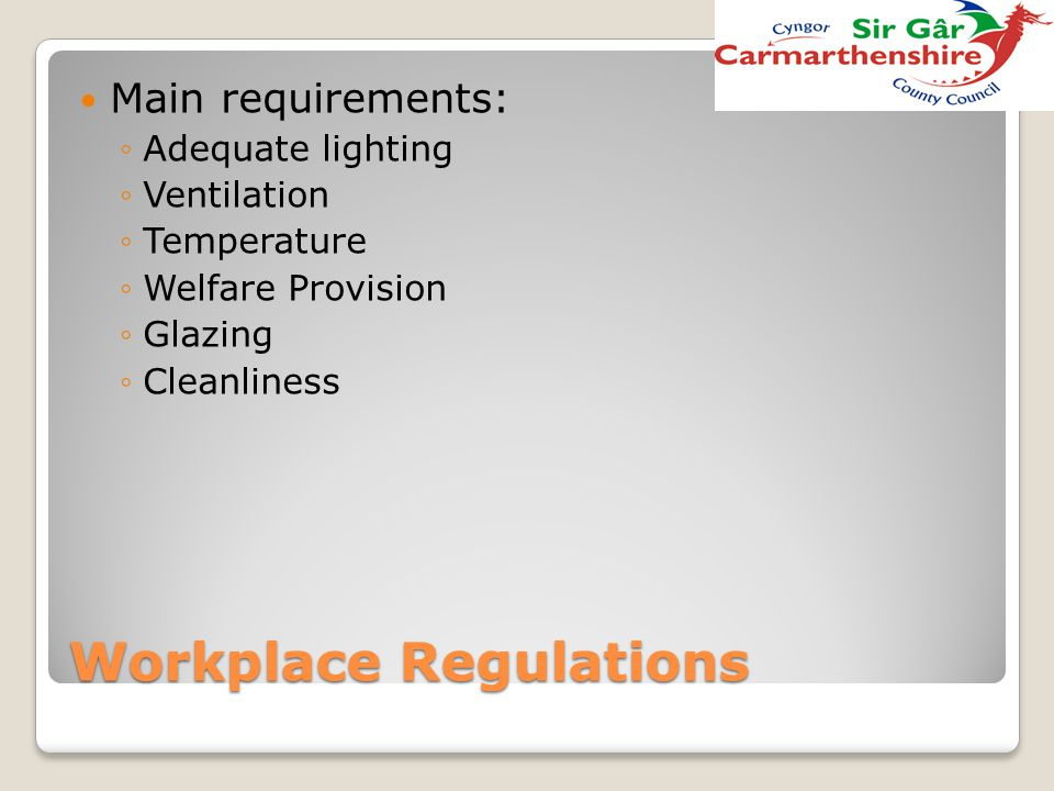 Workplace Regulations