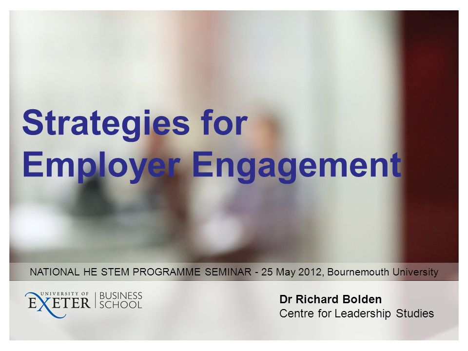 Strategies for Employer Engagement