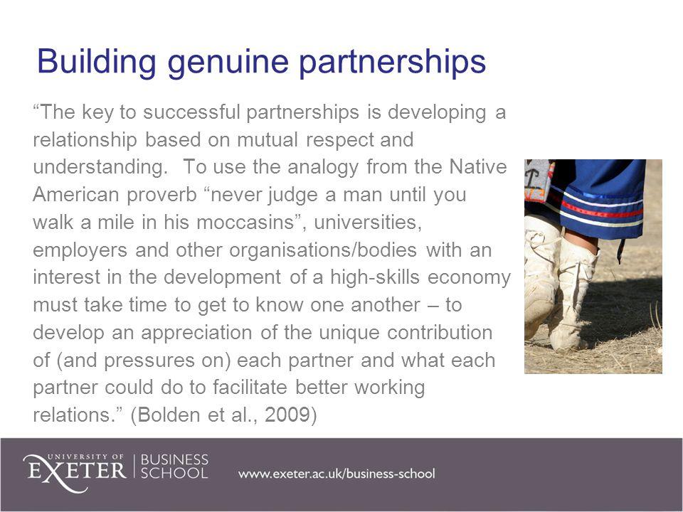 Building genuine partnerships