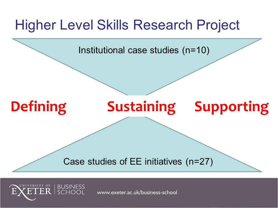 Higher Level Skills Research Project