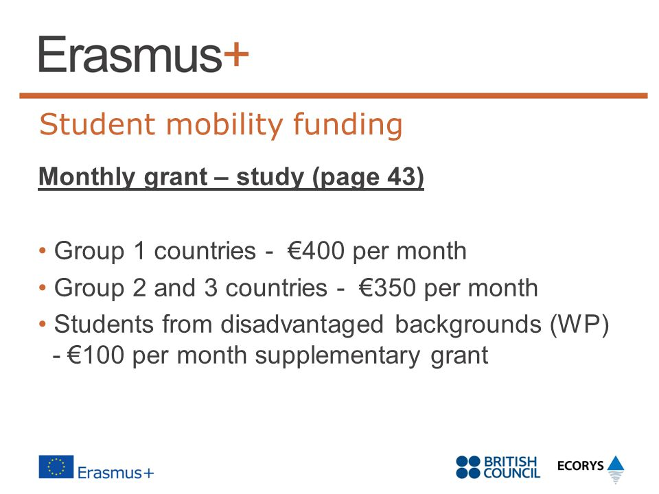 Student mobility funding