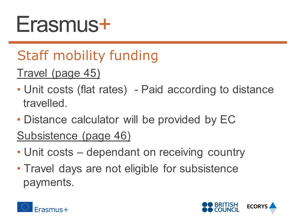 Staff mobility funding