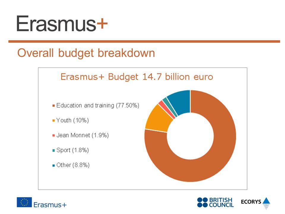 Overall budget breakdown