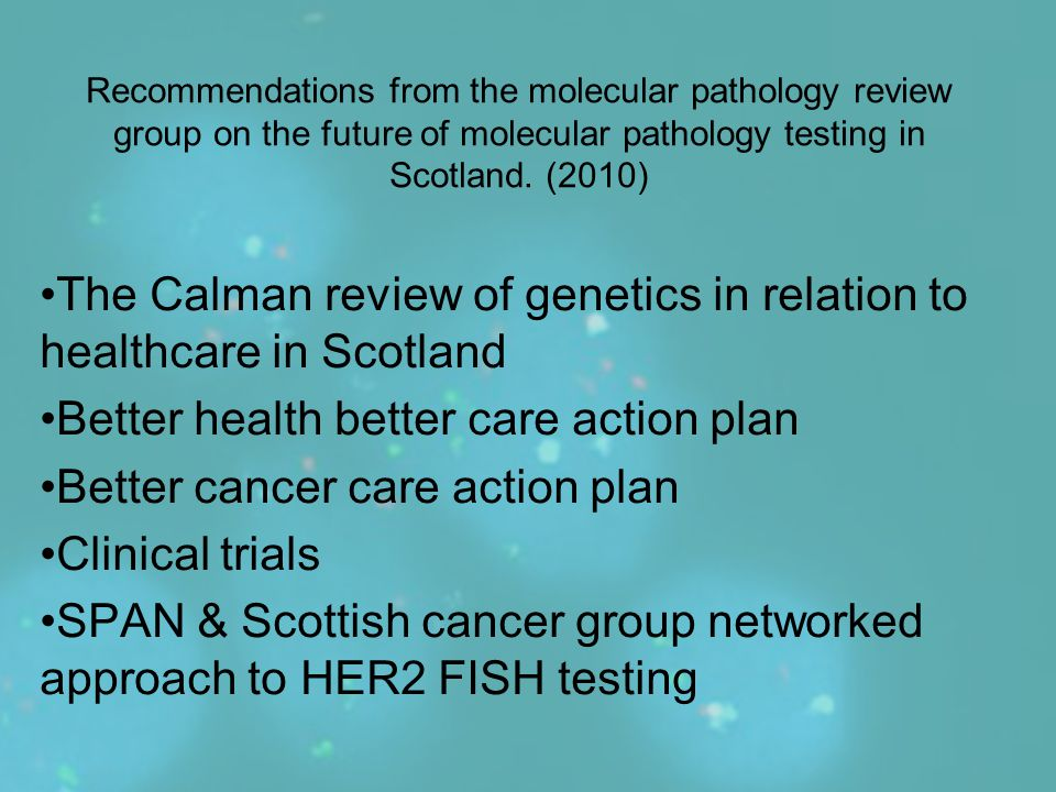 The Calman review of genetics in relation to healthcare in Scotland