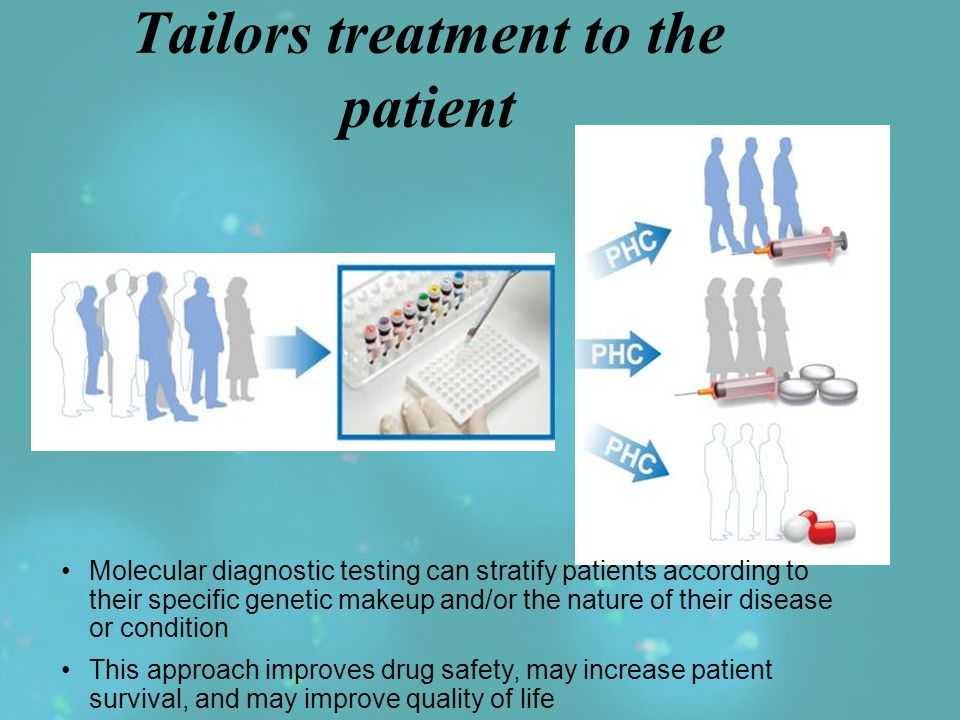 The Alternative: Personalized Healthcare (PHC) Tailors treatment to the patient