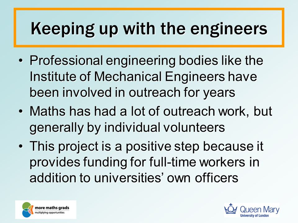 Keeping up with the engineers