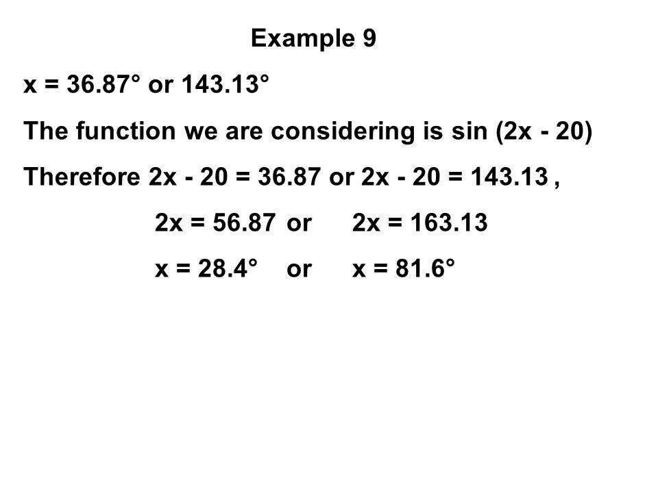 The function we are considering is sin (2x - 20)