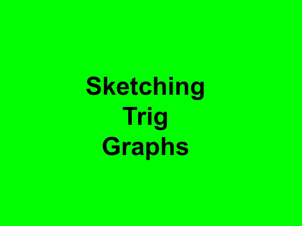 Sketching Trig Graphs For reinforcement and using the graphs go to folder graph transformations