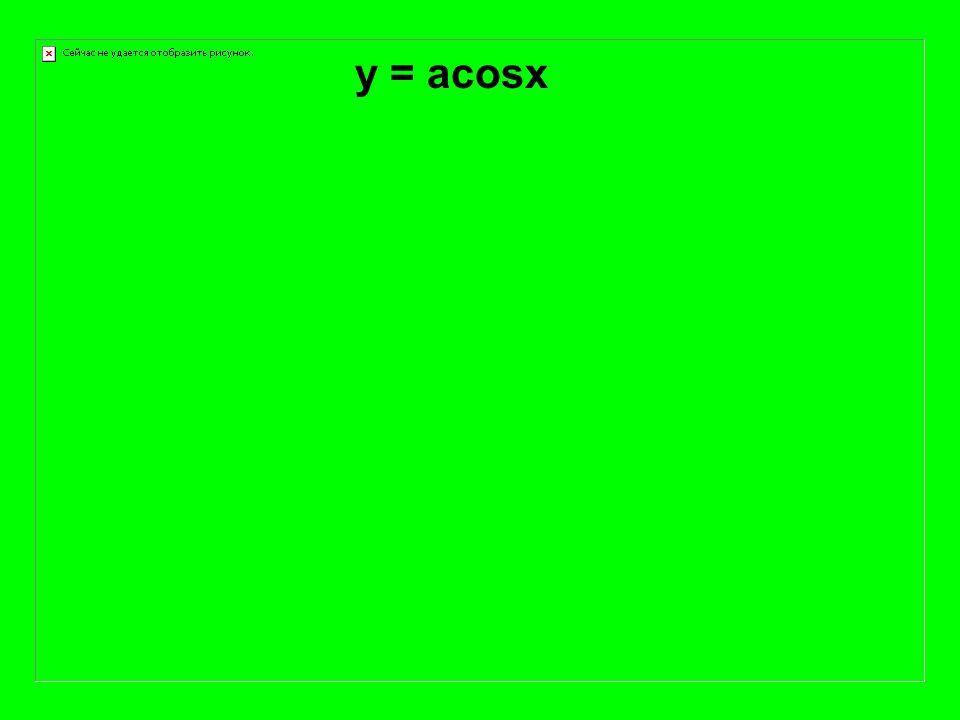 y = acosx