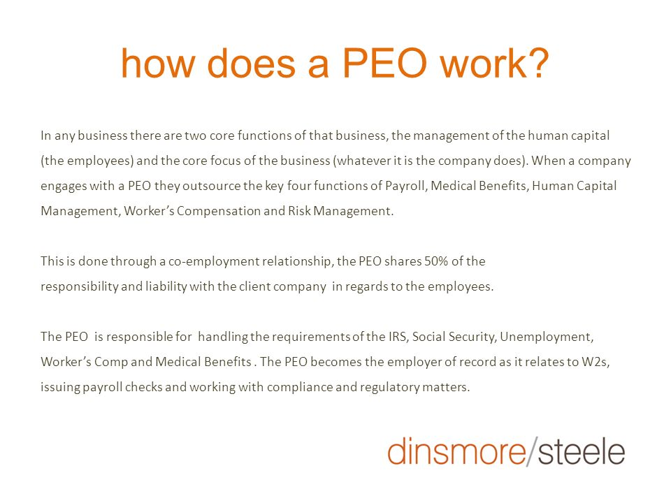 how does a PEO work