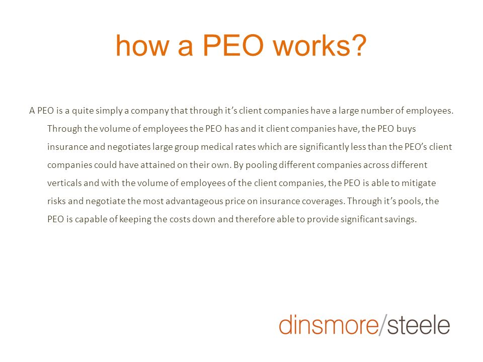 how a PEO works