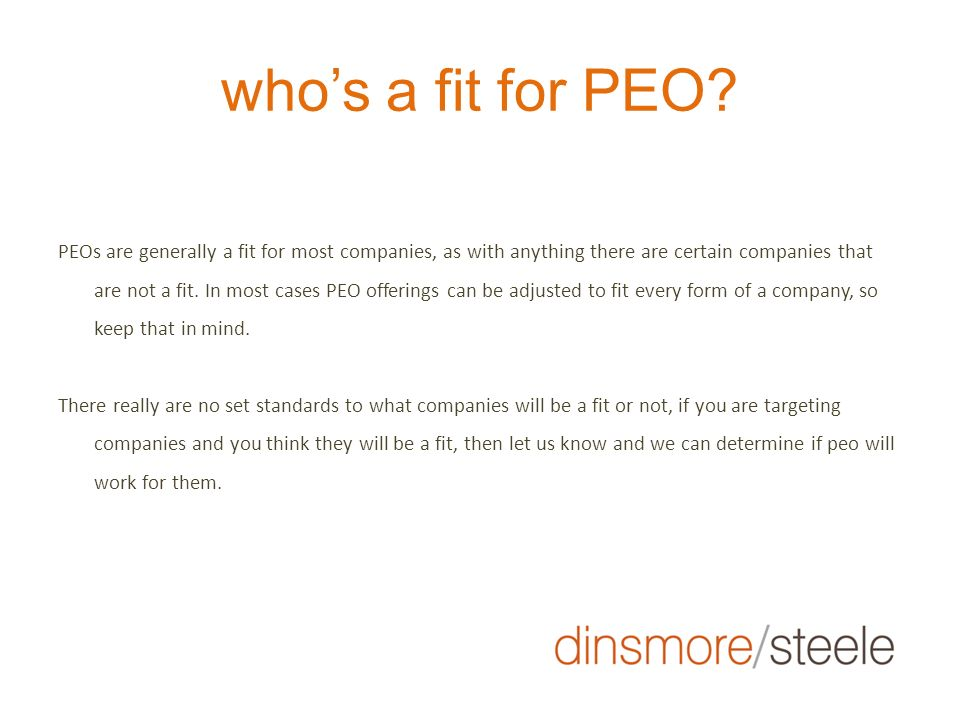 who's a fit for PEO