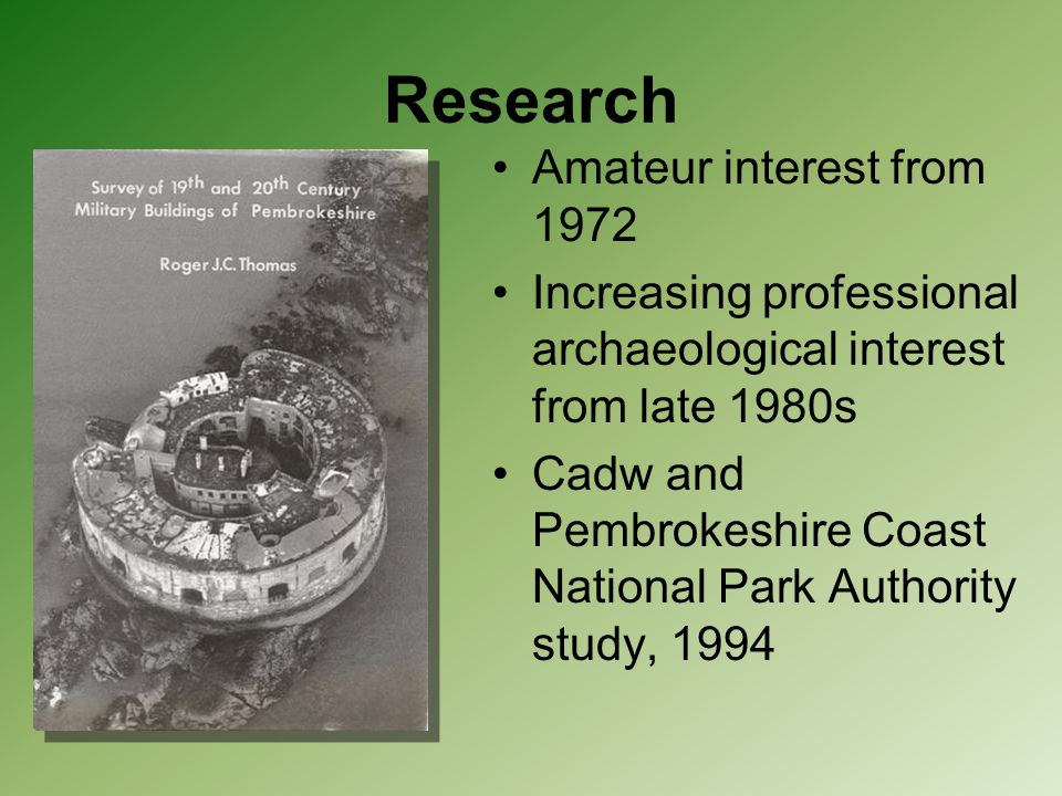 Research Amateur interest from 1972