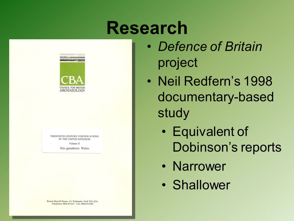 Research Defence of Britain project