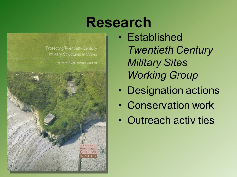 Research Established Twentieth Century Military Sites Working Group