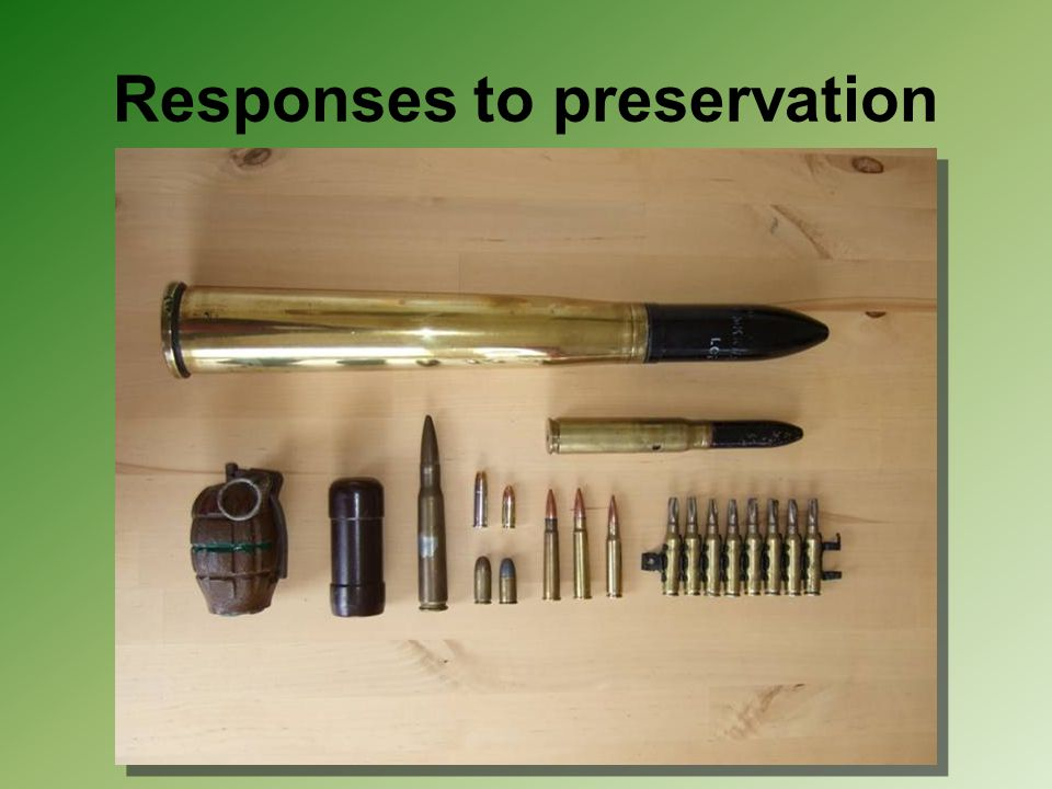 Responses to preservation