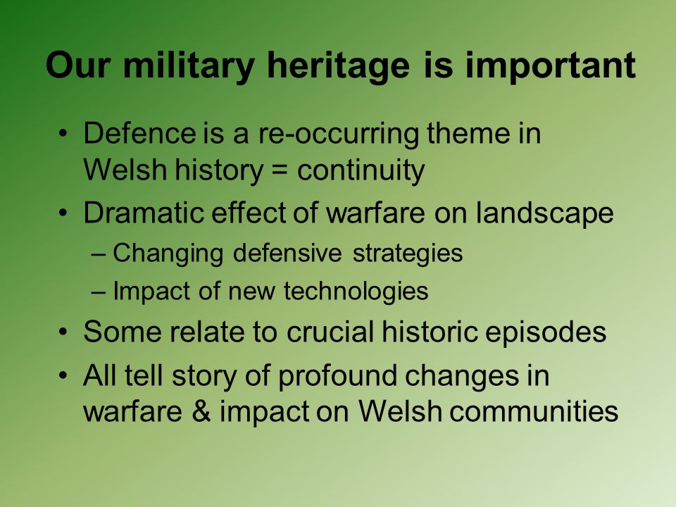 Our military heritage is important