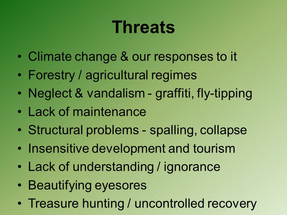 Threats Climate change & our responses to it