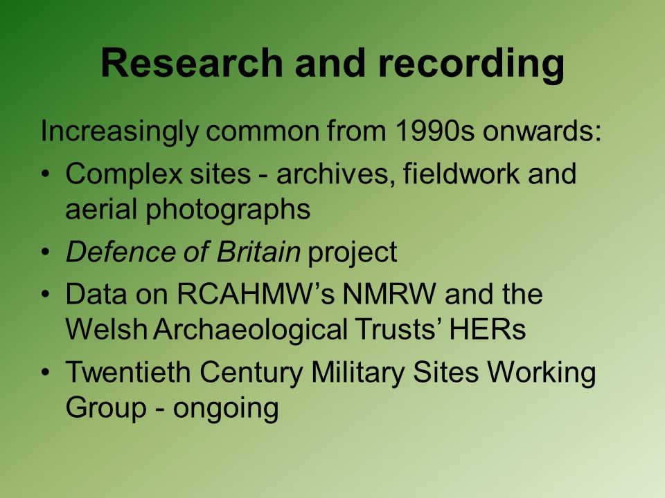 Research and recording