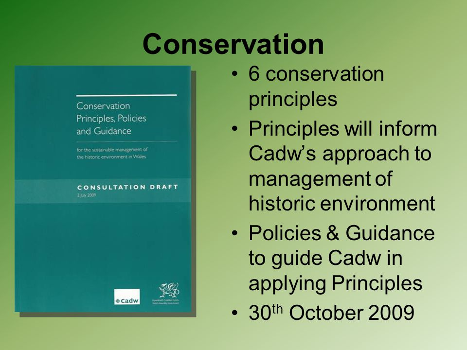 Conservation 6 conservation principles