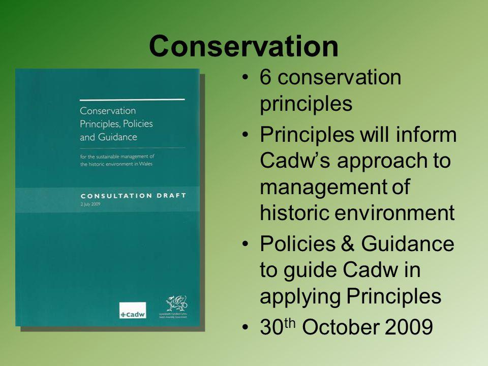 Conservation 6 conservation principles