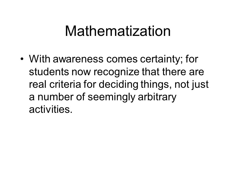 Mathematization
