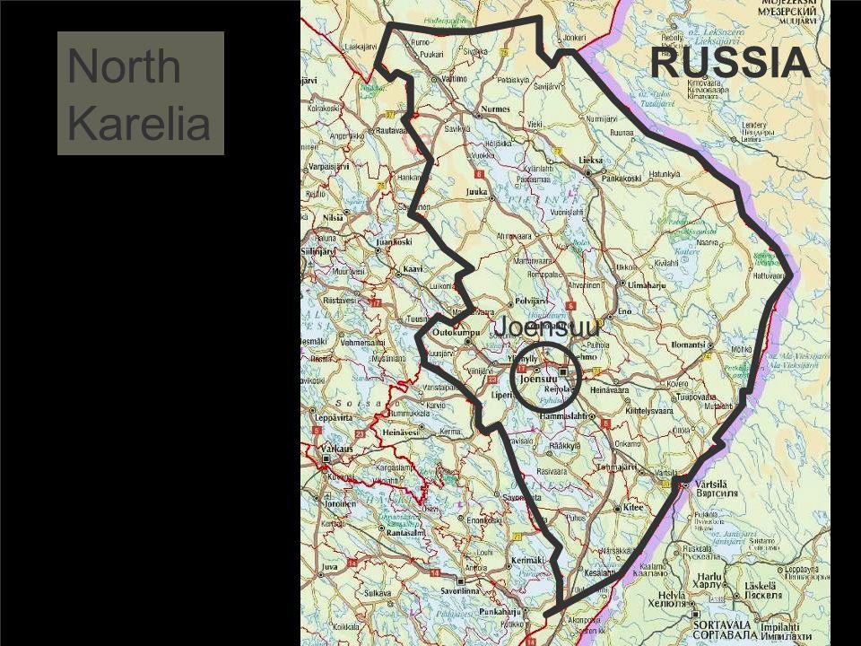 North Karelia RUSSIA Joensuu NK - 166 000 Joensuu – 72 000