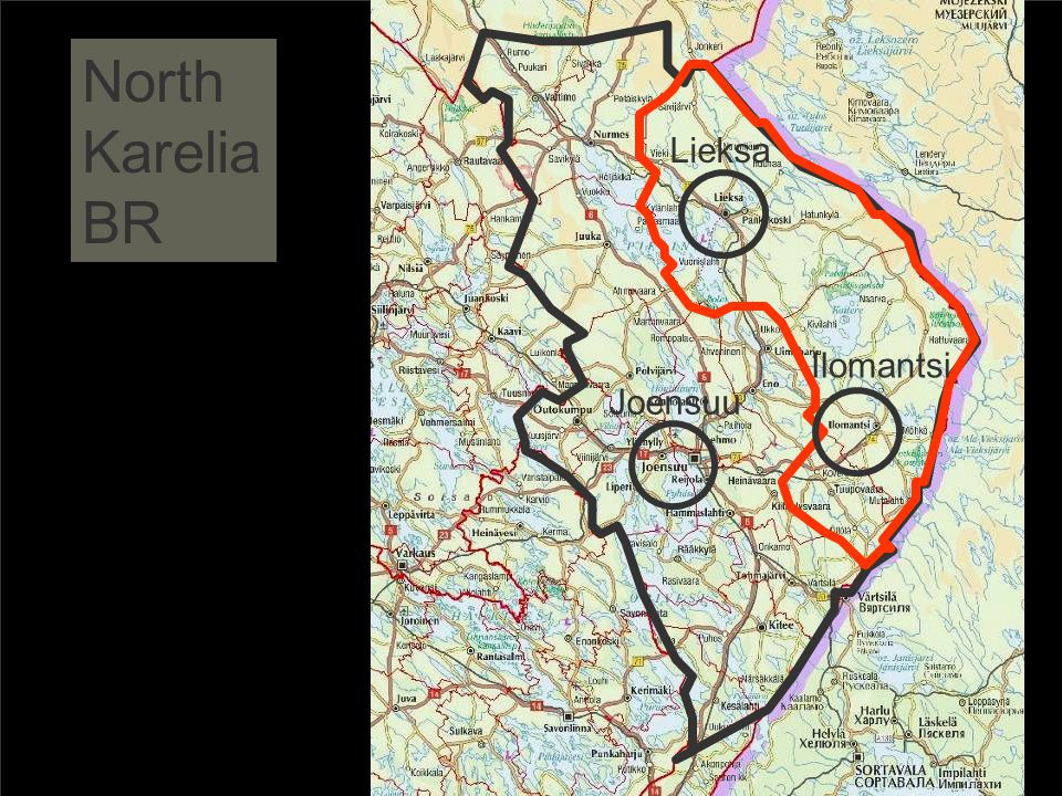 North Karelia BR Lieksa Ilomantsi Joensuu