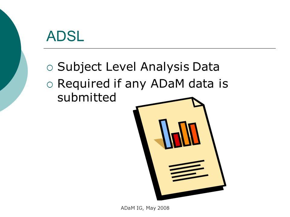 ADSL Subject Level Analysis Data