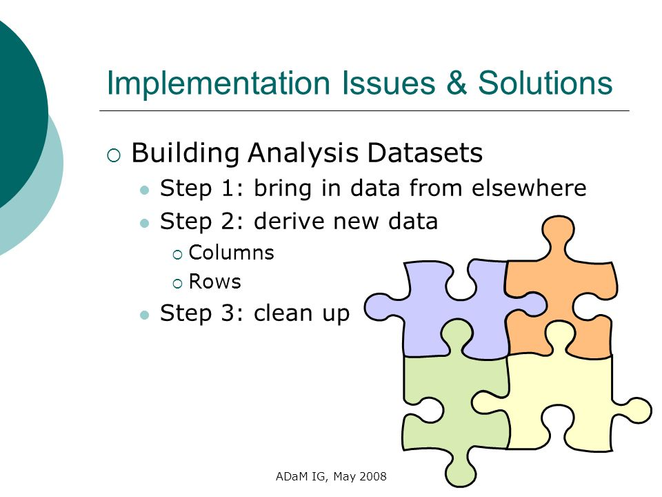 Implementation Issues & Solutions