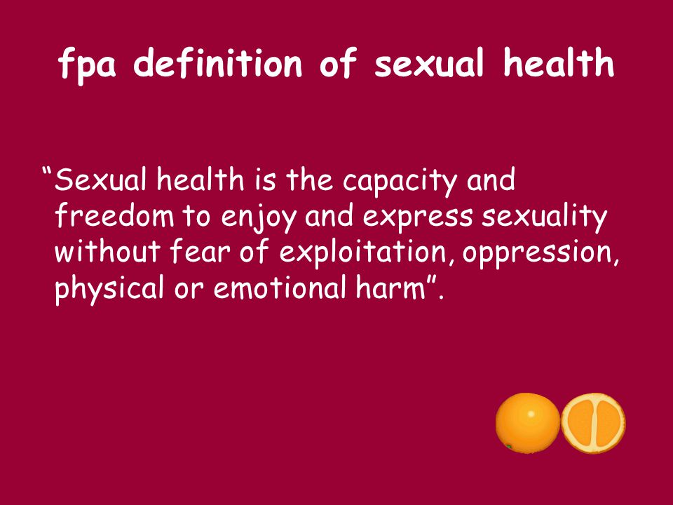 fpa definition of sexual health