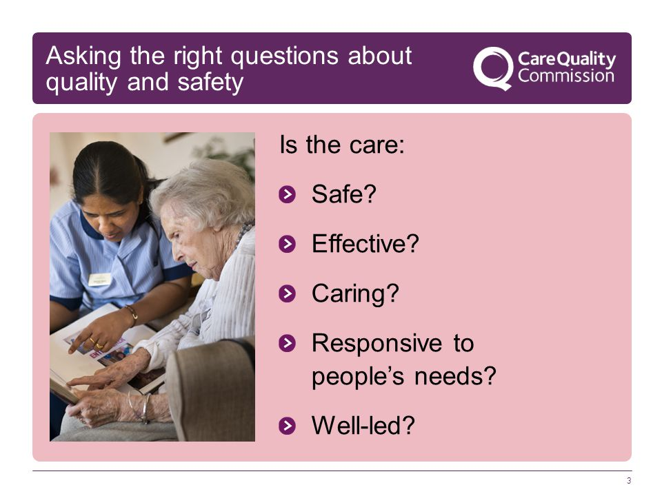 Asking the right questions about quality and safety